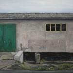 Fassade mit grünem Tor