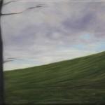 Kleine Landschaft aus dem Zug