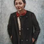 Tamar mit Mantel