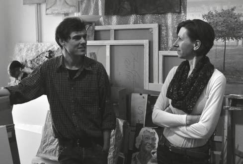 Johannes Gräbner und Michaela Hirche im Atelier