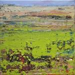 Quadratische Landschaft mit Gelbgrün