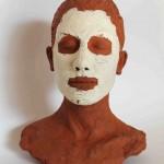 Büste mit Gesichtsmaske